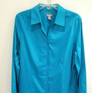 Chico's teal shirt